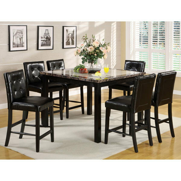 Faux Marble Table From Big Lots: Atlas Faux Marble Top Counter Height Dining Table Set