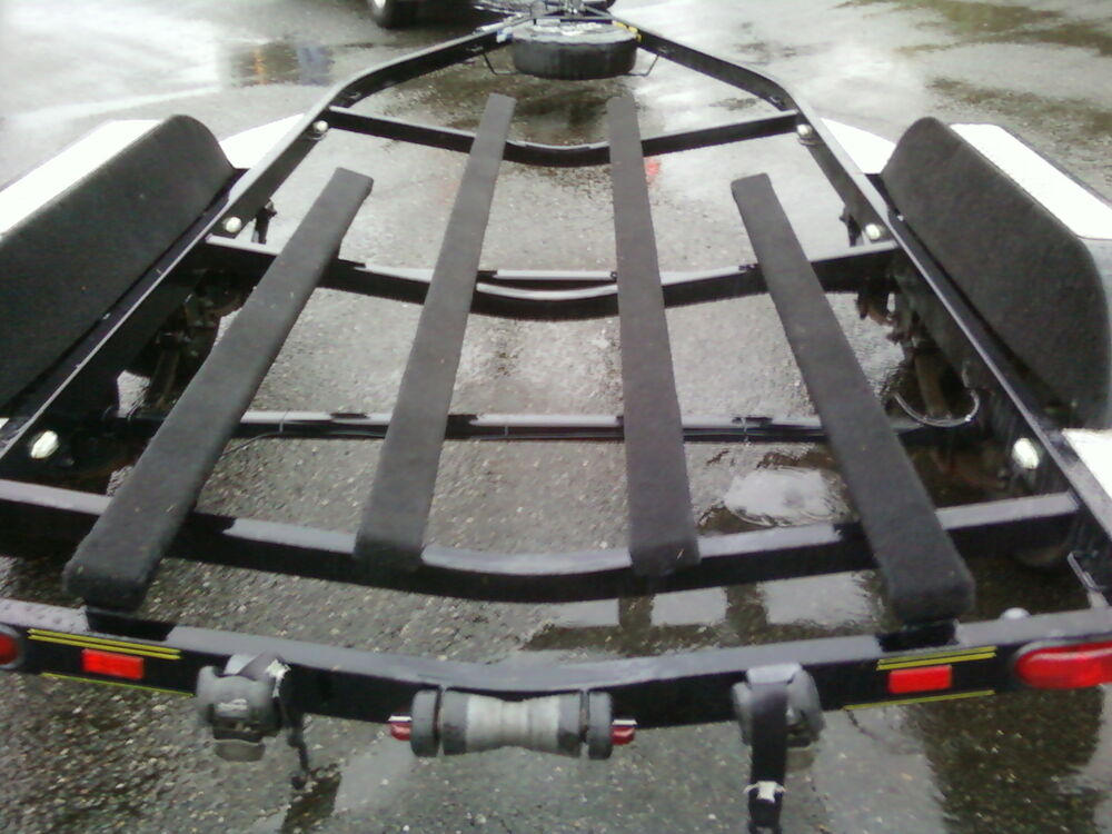 Marine Grade Polymer Board : Aggressor boat trailer bunk running board carpet