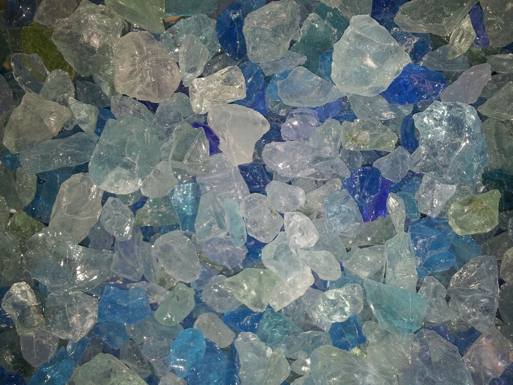 Fire Glass Caribbean Mix Blue Gas Fire Pits Gas