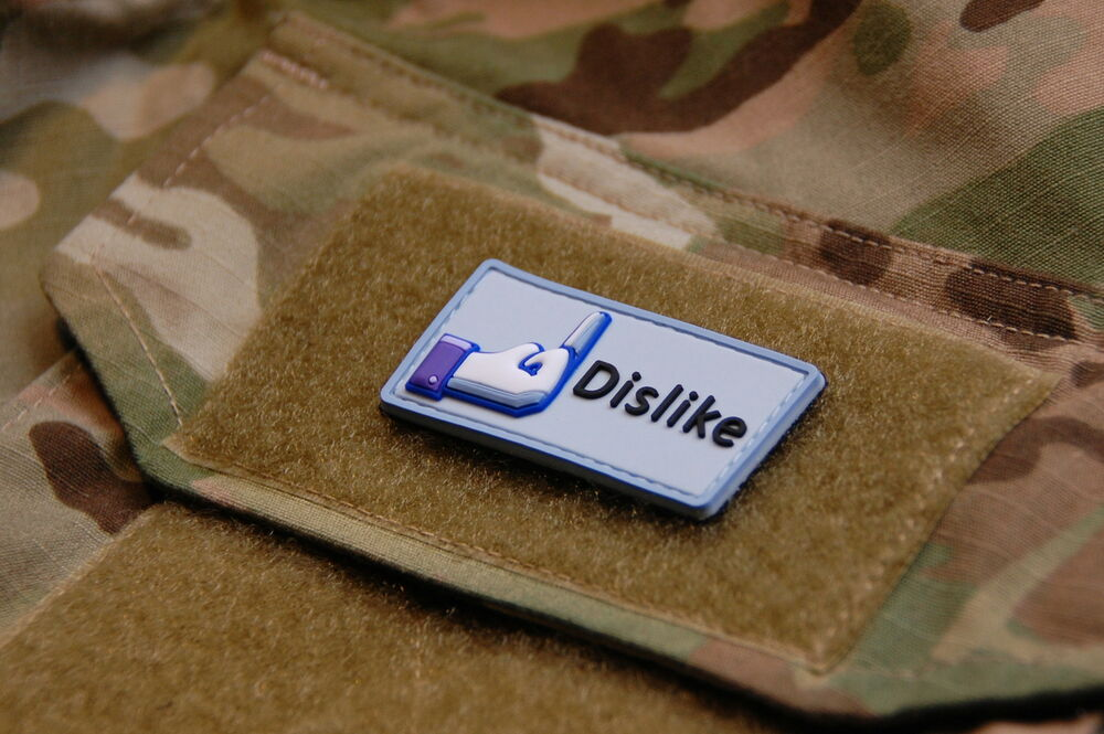 3D PVC Facebook Dislike Middle Finger Morale Patch VELCRO ...