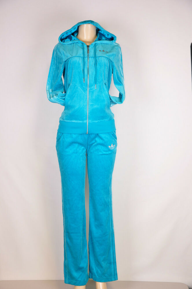 adidas originals women 39 s velour tracksuit zip hoodie and. Black Bedroom Furniture Sets. Home Design Ideas