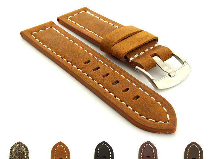 Mens genuine leather replacement watch strap band panor 22mm 24mm 26mm mm ebay for Men gradient leather strap