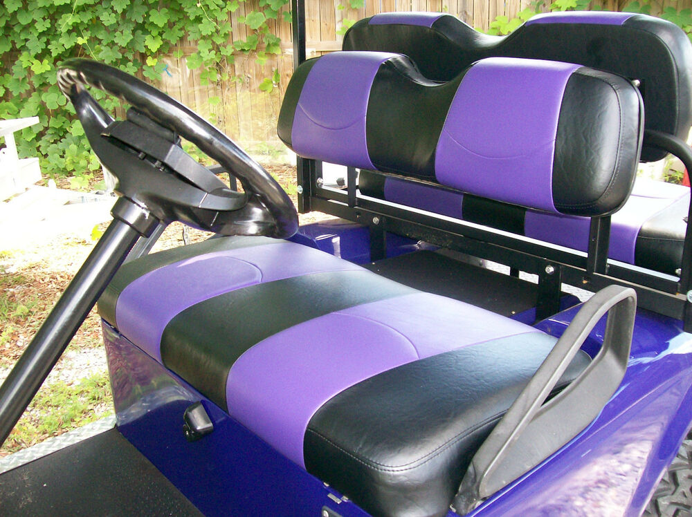 Golf Cart Seat Replacement : Club car  up golf cart front seat replacement black