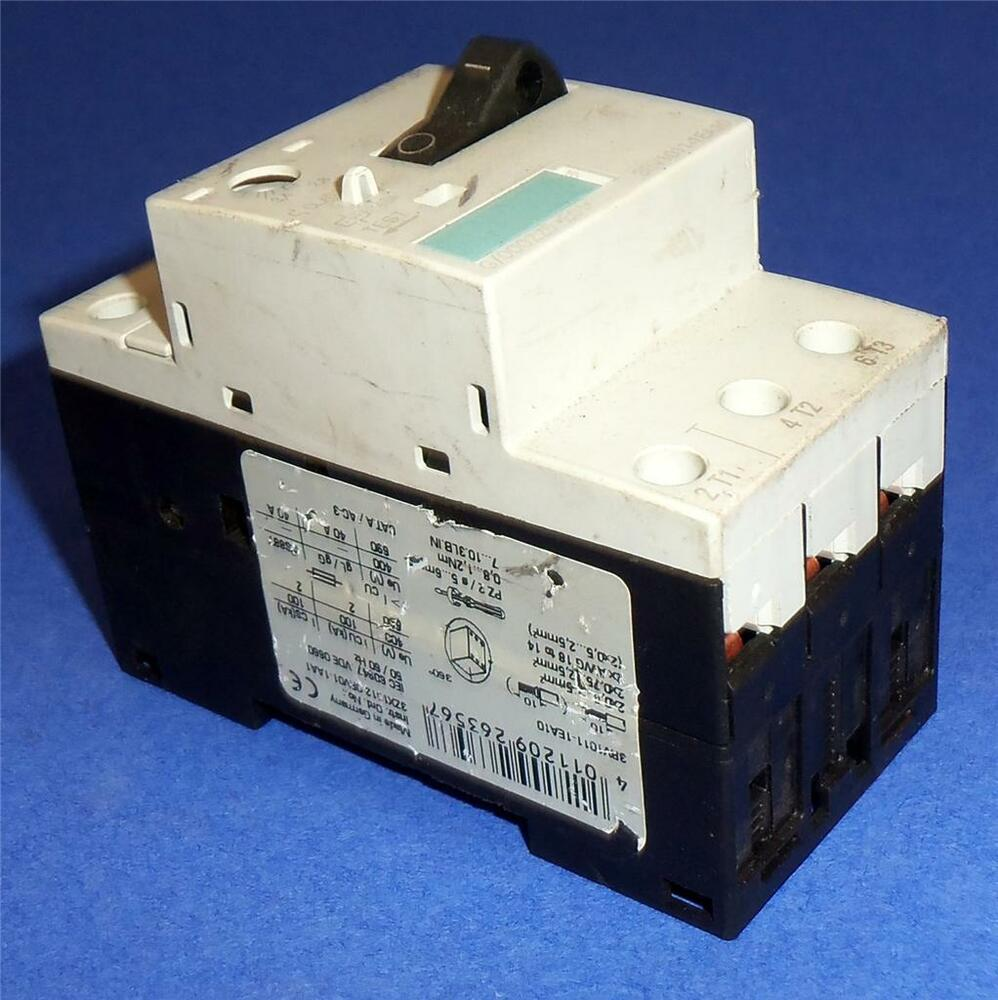 Siemens sirius 3r 2 8 4a manual motor starter 3rv1011 for When do you need a motor starter