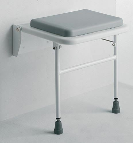 Wall Mounted Fold Away Shower Bathroom Stool With Comfy
