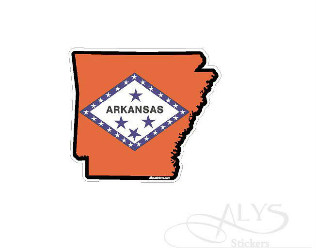 Arkansas State Map Flag Decals Stickers