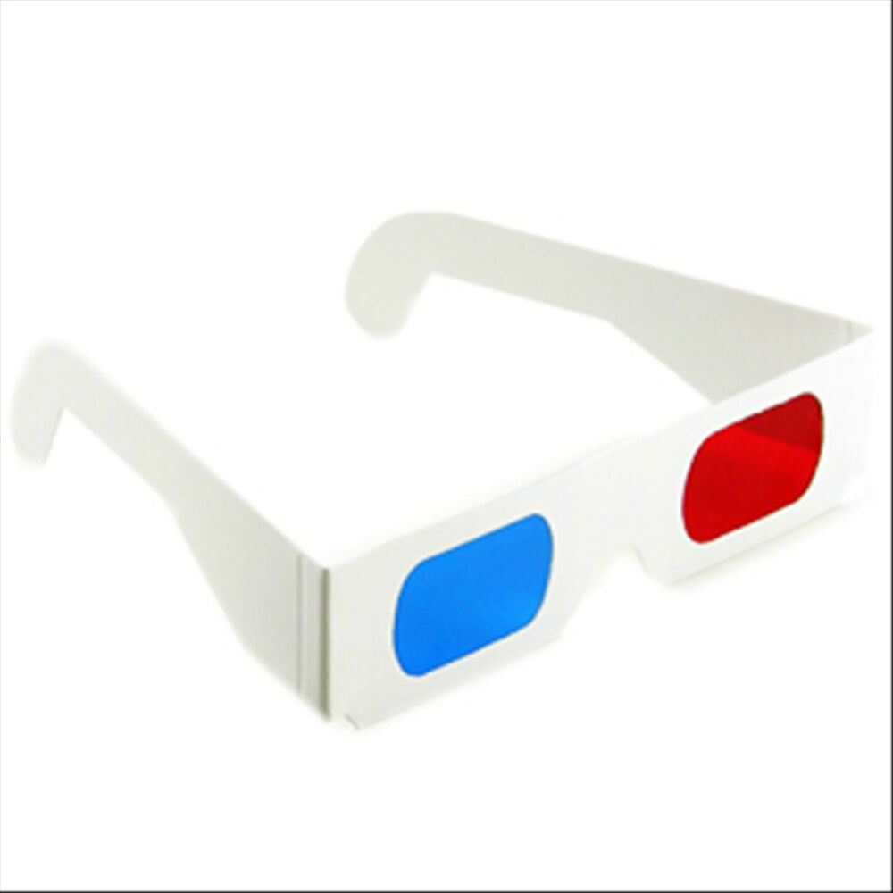 25 X 3-D paper glasses red cyan / blue anaglyph movie game ...