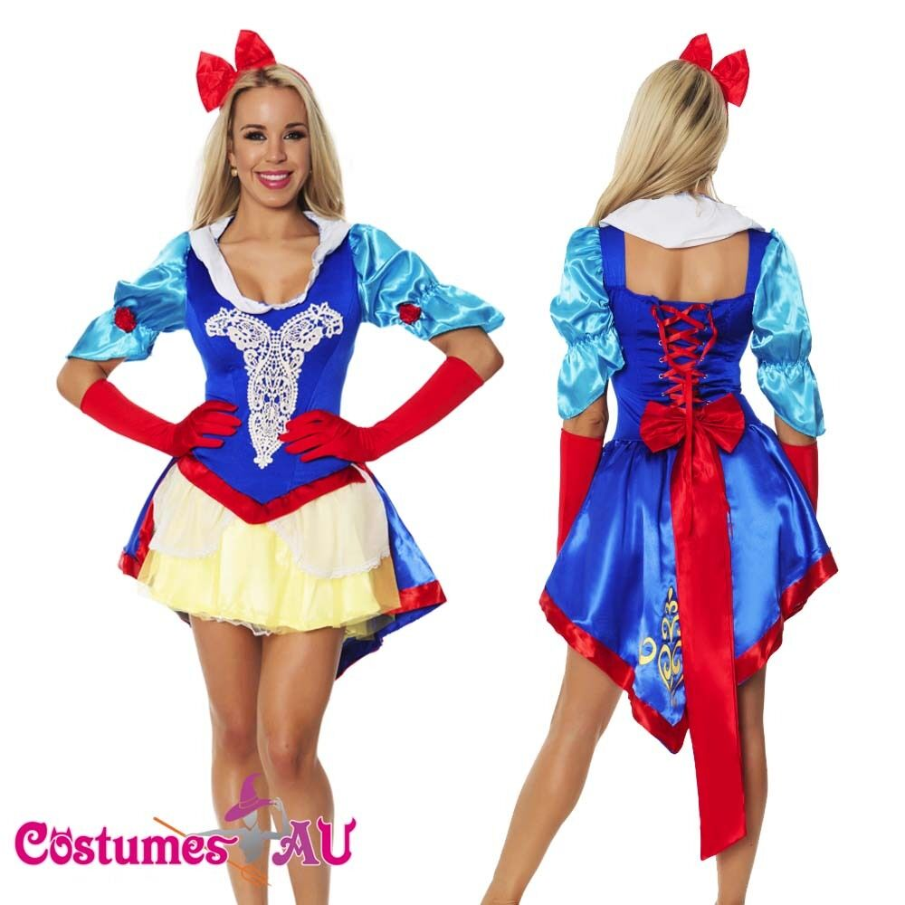 Ladies Snow White Princess Fairy Tale Costume Halloween