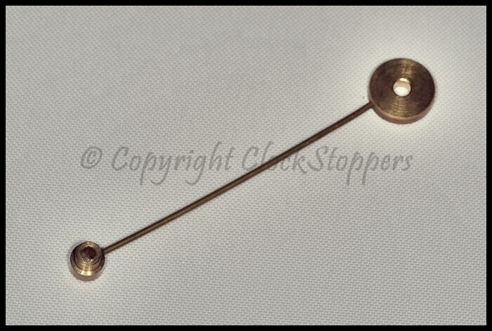 Bell Replacement Parts : Round brass head french clock bell hammer repair service