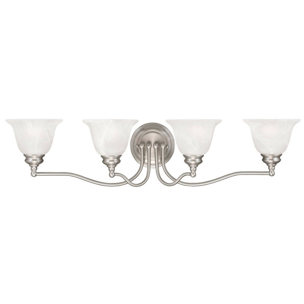discount bathroom vanity lighting fixtures 4 l livex essex bathroom vanity brushed nickel lighting 23088