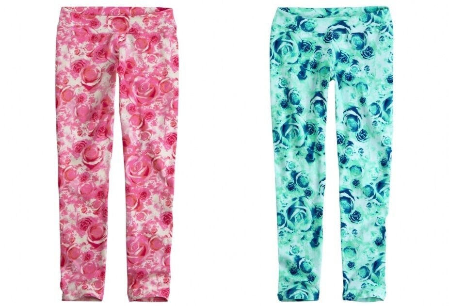 New Justice Girl S Leggings Size 7 8 10 Floral Print