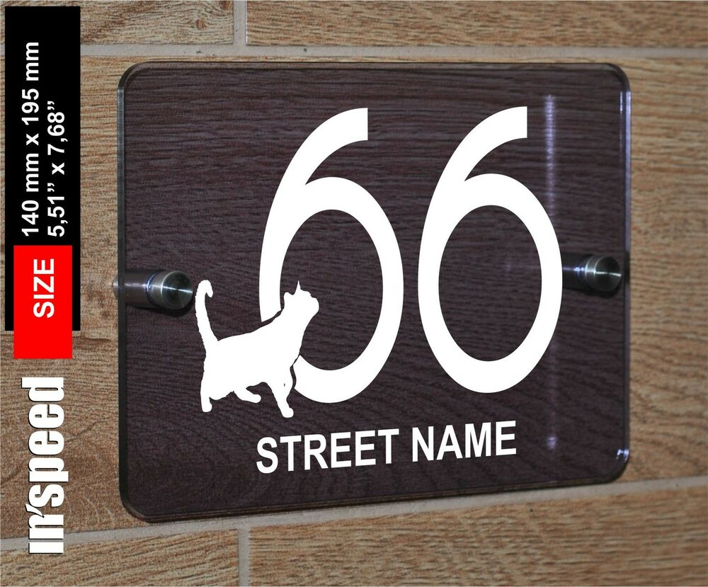 lovely personalized house number and street name sign. Black Bedroom Furniture Sets. Home Design Ideas