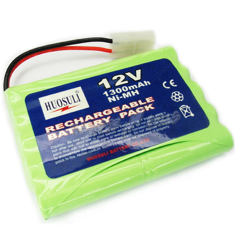 1 x 12v 2x5aa 1300mah nimh rechargeable battery pack tamiya female ce rohs green ebay. Black Bedroom Furniture Sets. Home Design Ideas