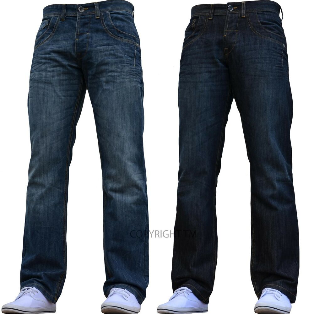 bnwt new mens enzo jeans blue straight washed 28 30 32 34 36 38 40 42 waist size ebay. Black Bedroom Furniture Sets. Home Design Ideas