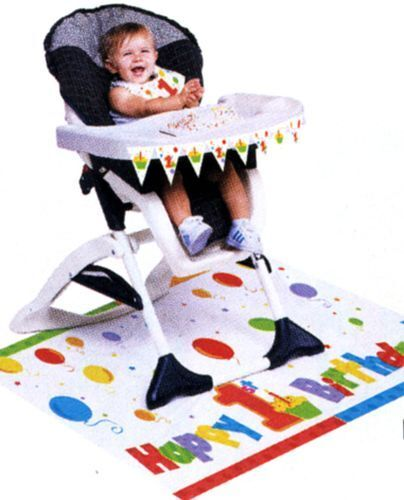 NEW 1ST BIRTHDAY BOYS HIGH CHAIR COVER KIT