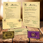 HARRY POTTER HOGWARTS ACCEPTANCE LETTER PERSONALISED GIFT +FREE EXPRESS TICKET r