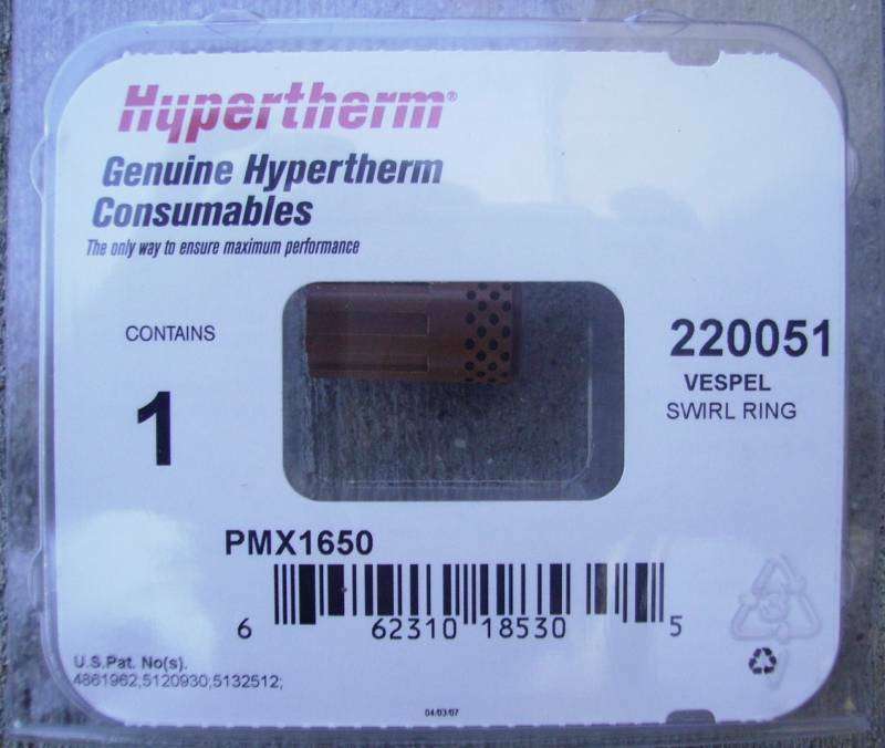 s l1000 hypertherm genuine powermax 1650 100 amp swirl ring 220051 ebay Hypertherm PMX 105 at n-0.co