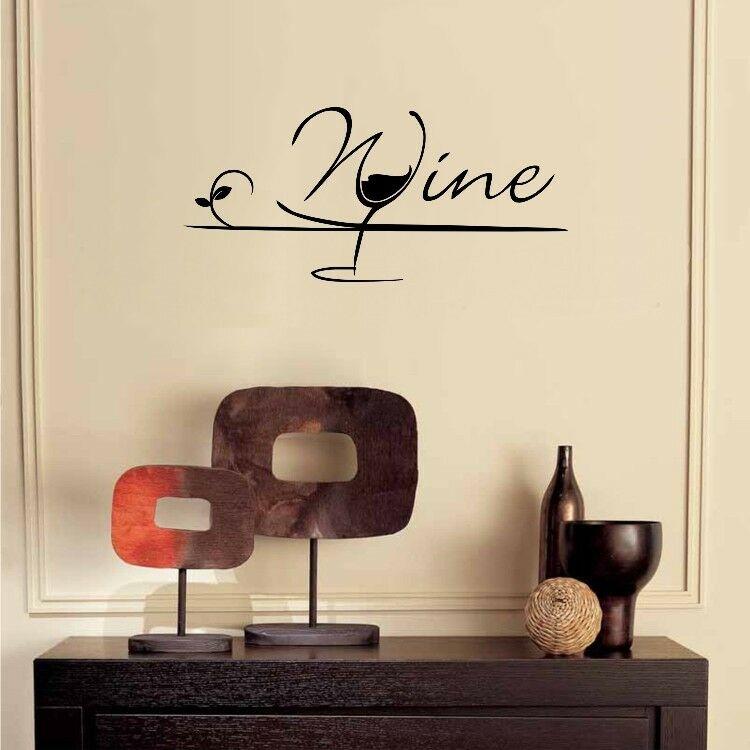 Wine Glass Sticker Kitchen Wall Decal Sticker Art Home