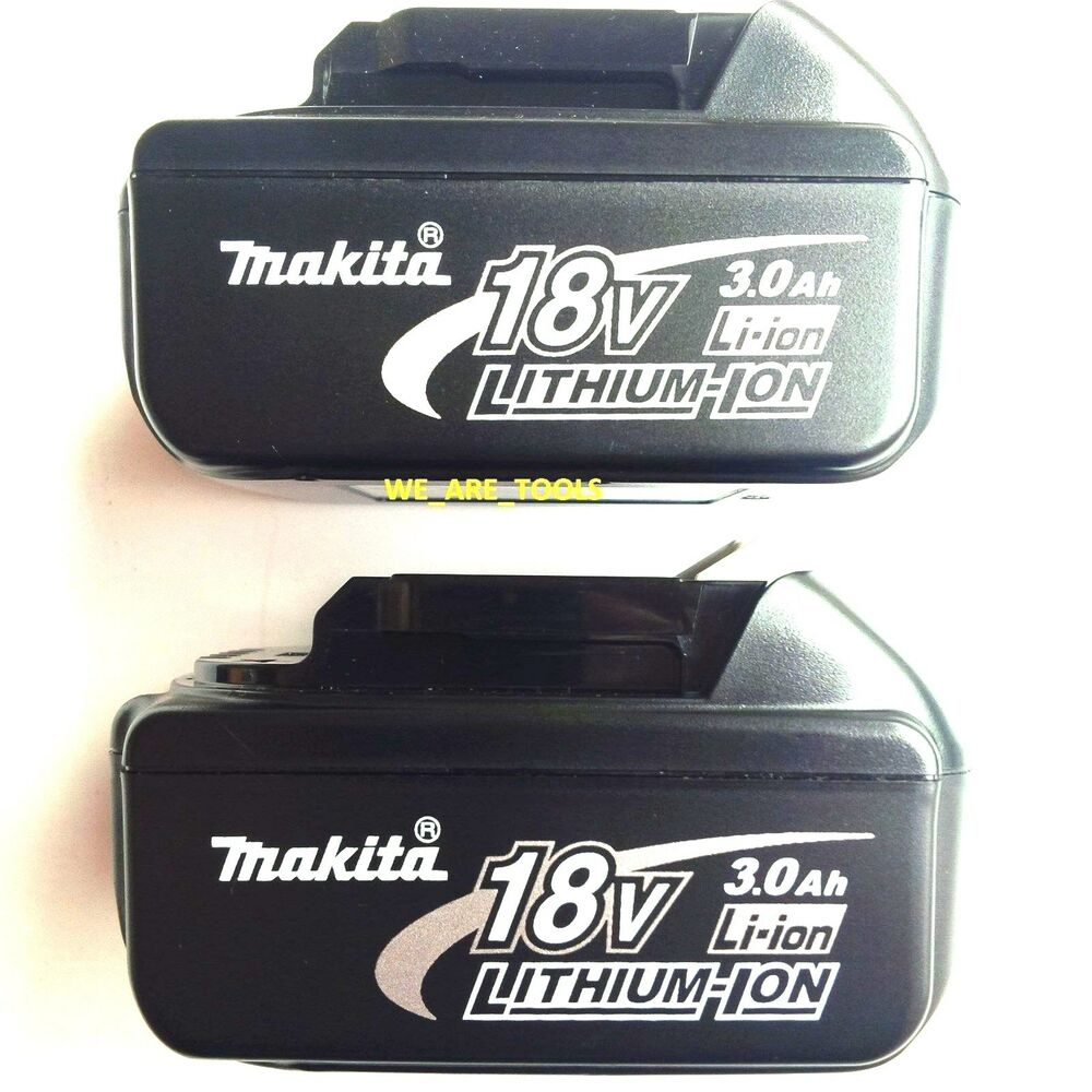 2 new 18v genuine makita batteries bl1830 3 0 ah 18 volt for drill saw grinder ebay - Batterie makita 18v ...