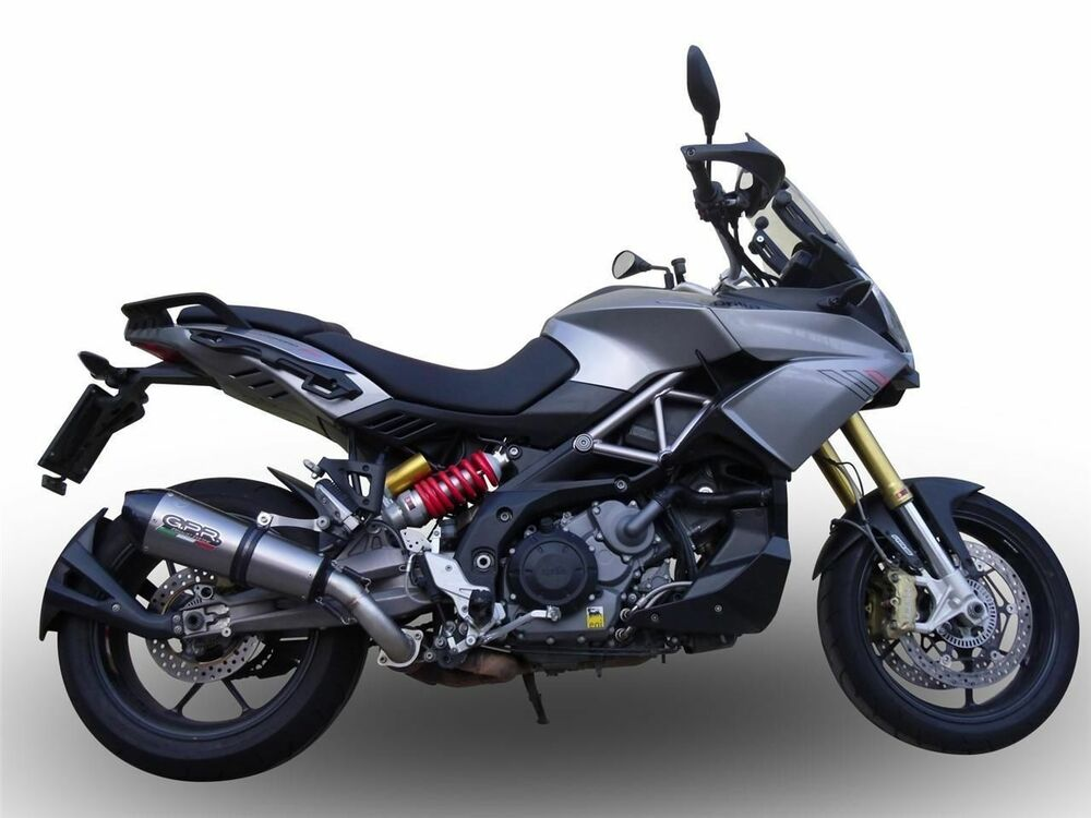 aprilia caponord 1200 gpr exhaust systems gpe ti slipon muffler silencer ebay. Black Bedroom Furniture Sets. Home Design Ideas