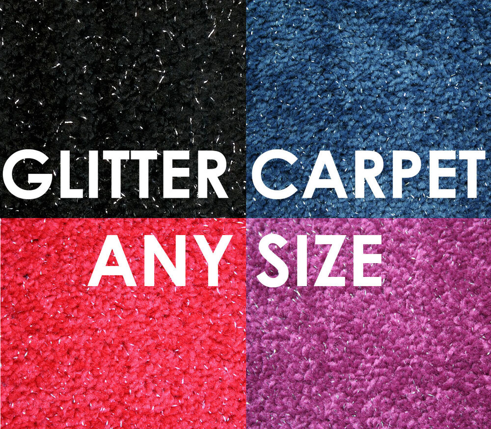 Black Blue Purple Red Sparkly Glitter Quality Carpet Any