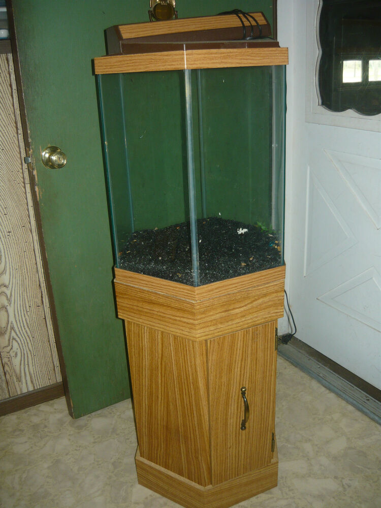 20 gallon hexagon fish tank with stand and many extras ebay