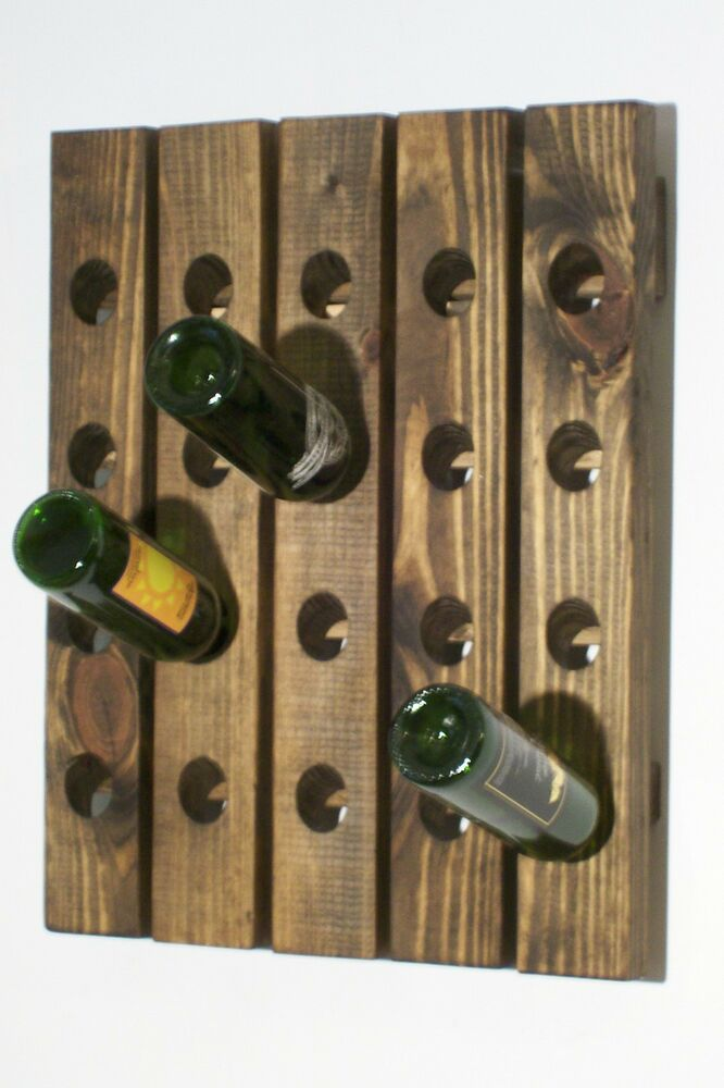 Wall wine rack riddling rack wood handmade hanging wine Hanging wooden wine rack