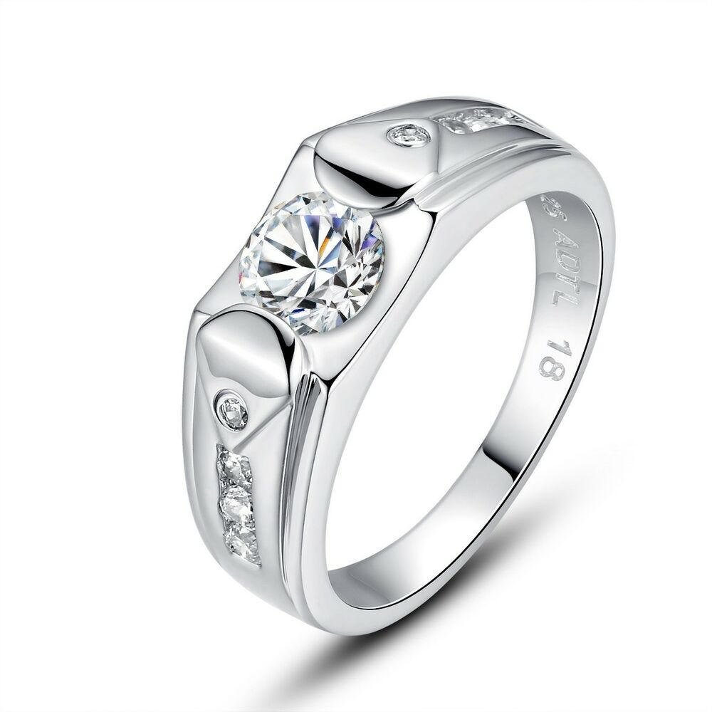 Mens Solitaire Wedding Rings