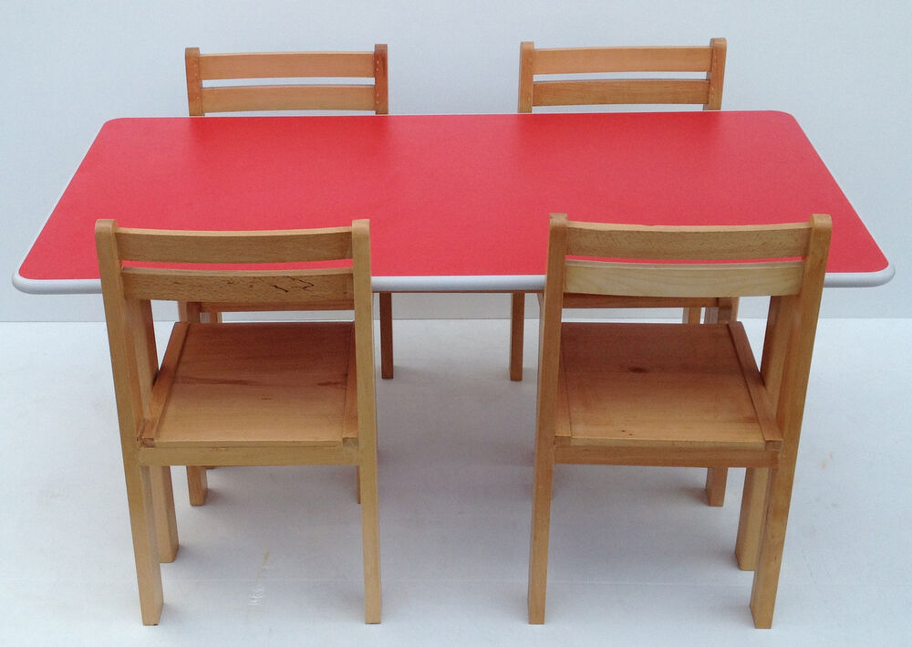 Kids Wooden Stacking Preschool Classroom Playgroup Table Chairs School Furniture Ebay