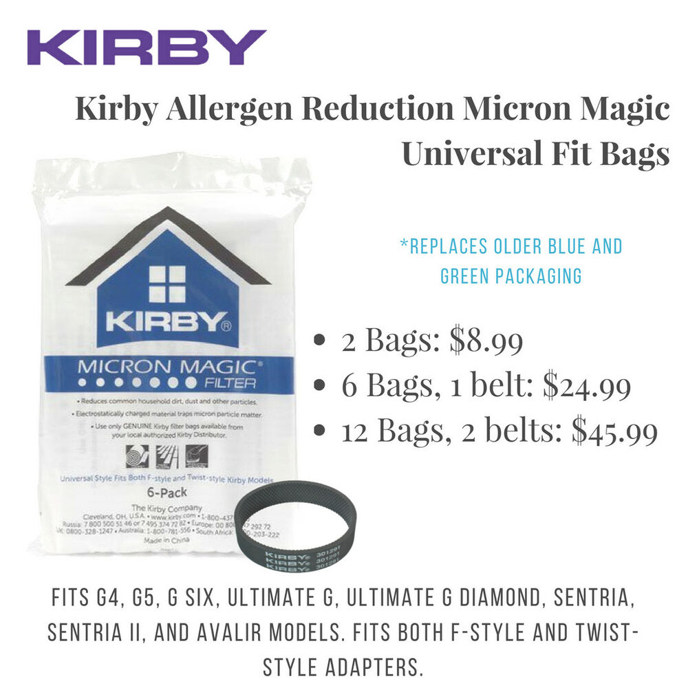 Kirby Cloth Vacuum Bags Universal Fit G Series And F