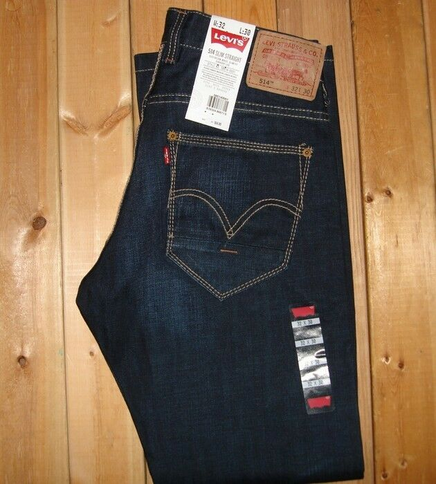 Levi's 514 Slim Straight Jeans Coated Scraped #0001 NWT 30 ...