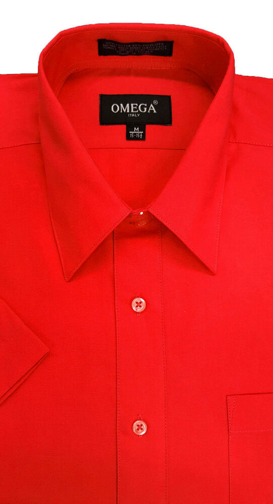 NWT MENS Red short sleeve dress shirts ALL SIZES  eBay