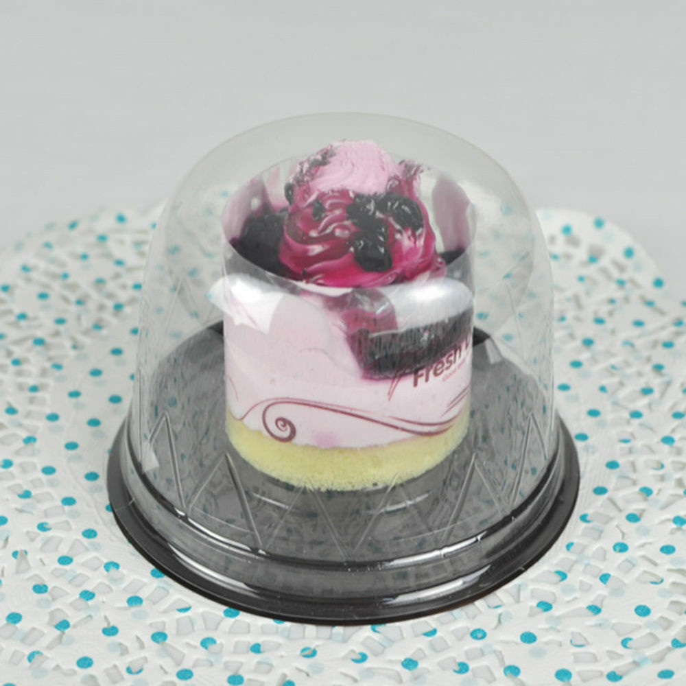 New Clear Plastic Cupcake Cake Dome Favor Container Box X25 Wedding Party Shower Ebay