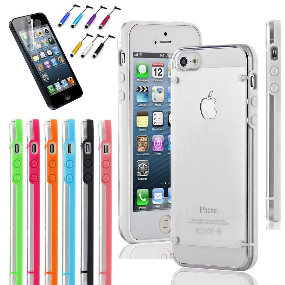 Slim Transparent Crystal Clear Hard TPU Cover Case for Apple iPhone 5 / 5S / SE | eBay