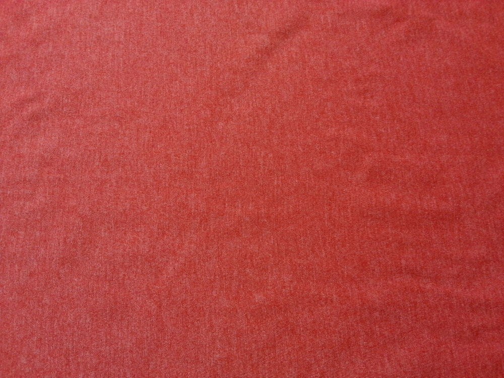 Heather red cotton fabric jersey knit by the yard ebay for Cotton fabric by the yard