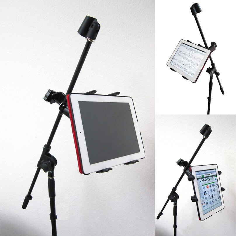 chargercity heavy duty 7 12 screen size tablet ipad microphone mic stand mount ebay. Black Bedroom Furniture Sets. Home Design Ideas