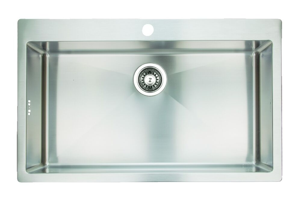 Extra Large Single Bowl Square Kitchen Sink 1.2mm Stain Steel ...