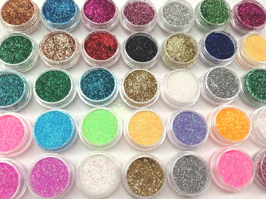 Holographic glitter pots fine nail art craft face for Arts and crafts glitter