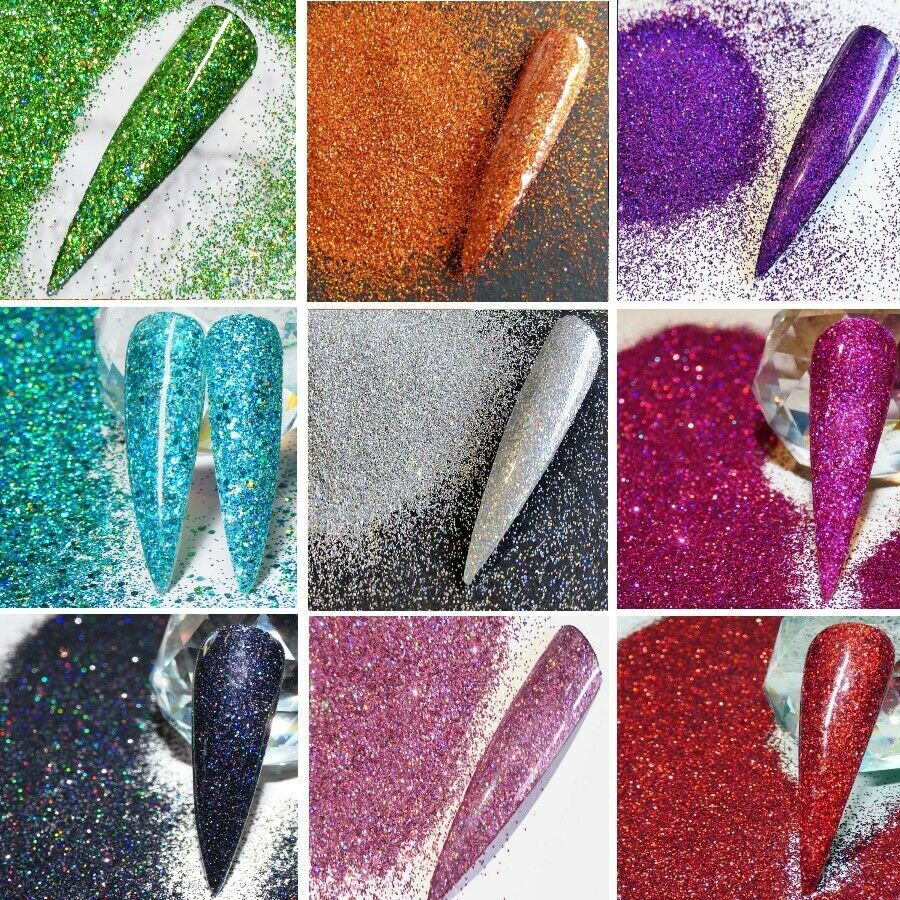 Holographic glitter in various colours 008 fine nail art for Arts and crafts glitter