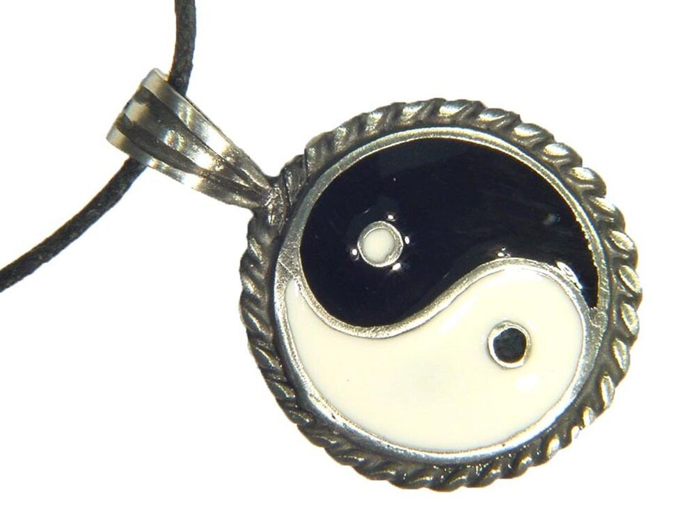 butw yin and yang pewter pendant necklace 2186e ebay