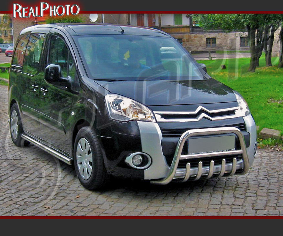 citroen berlingo 2008 bull bar nudge bar a bar gratis stainless steel ebay. Black Bedroom Furniture Sets. Home Design Ideas