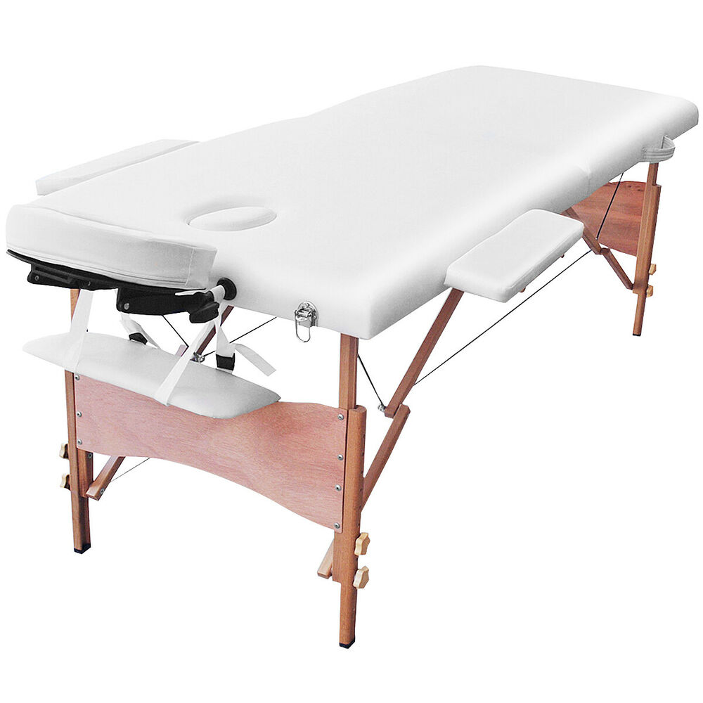 New 84 l portable massage table facial spa bed tattoo w free carry case white 6933315529116 ebay - Portable massage table walmart ...