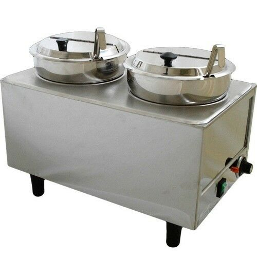 Commercial Food Warmer ~ Dual well countertop food warmer commercial soup chili
