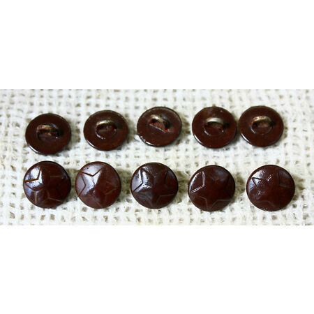 img-WWII - Lot 10 pcs Russian Red Army BAKELITE BUTTONS with STAR - 15 mm WW2