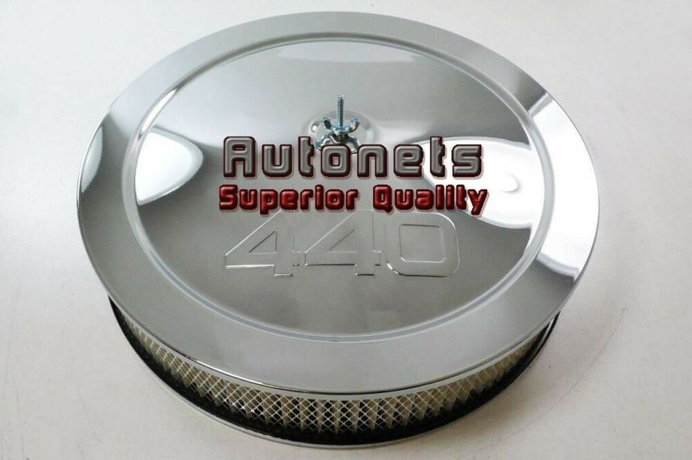 Plymouth Air Cleaner : Quot dodge mopar plymouth big block stamped logo chrome