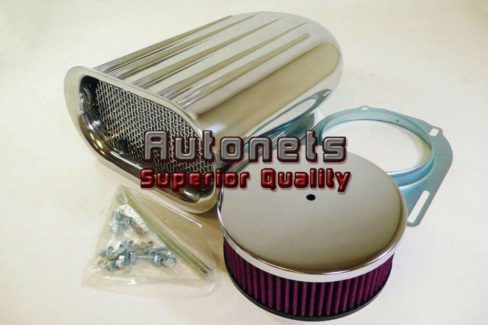 Blower Air Cleaners And Scoops : Single carburetor aluminum hood scoop washable air cleaner
