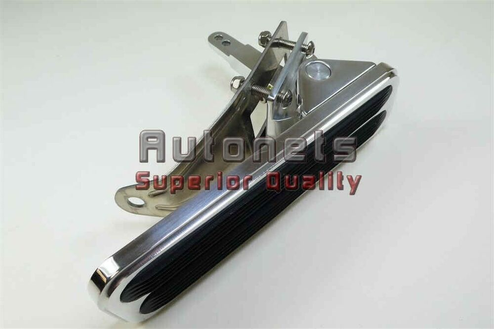 Universal Polished Aluminum Rectangular Gas Pedal Pad
