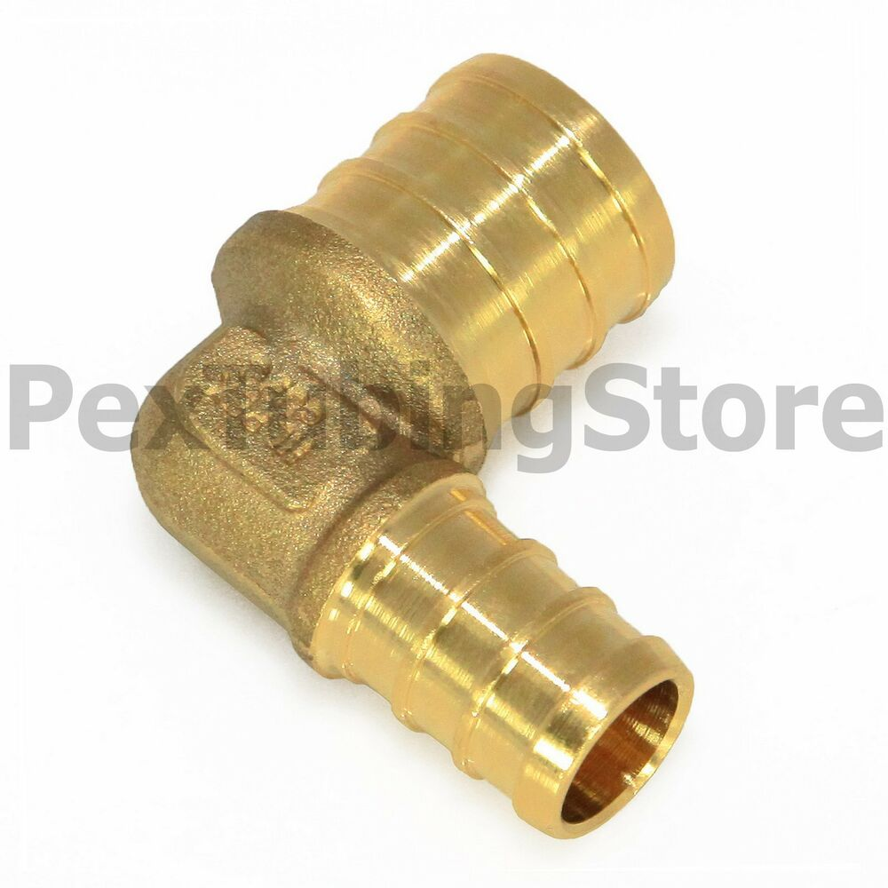 Quot pex elbow brass crimp fitting ebay