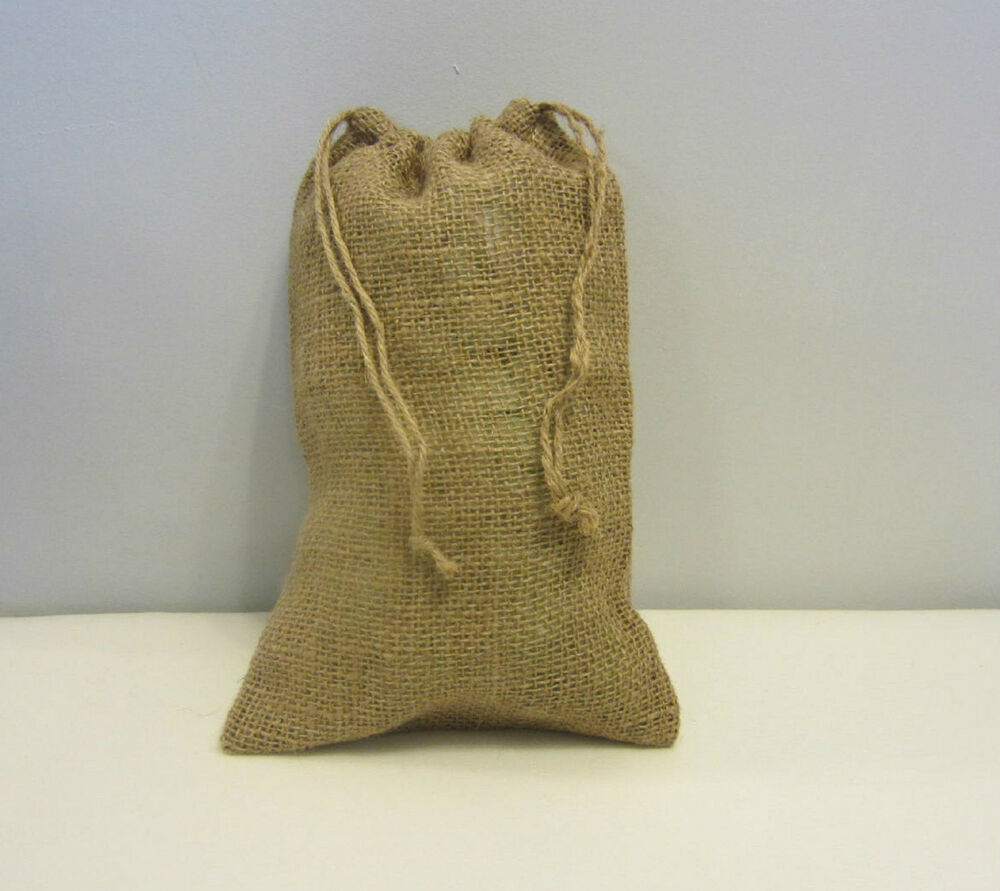 "ONE BURLAP BAG 8"" X 12"" WITH DRAWSTRING SACK GUNNY FEED ..."