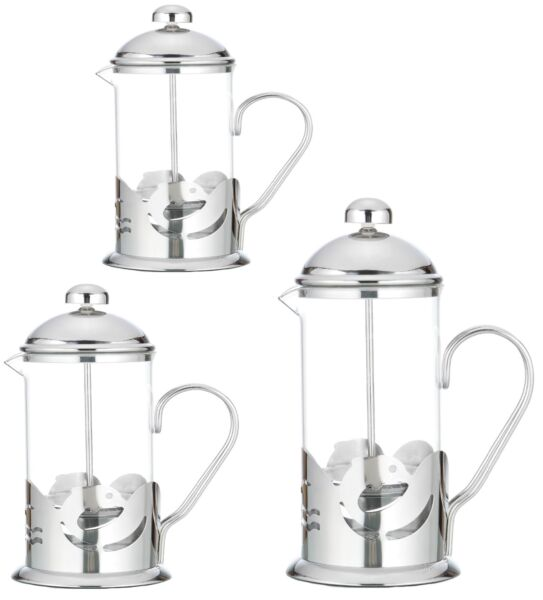 Kaffeezubereiter Press Filter Kanne Kaffee Tee Bereiter Edelstahl French Glas